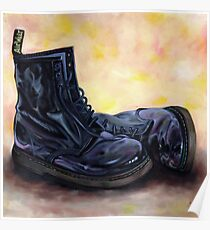 A Pair of Patent Black Dr Martens Poster