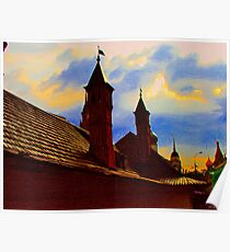 Roof of the Romanov-Yuriev estate house Poster