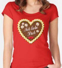 Lebkuchenherz Ich liebe Dich Gingerbread Heart Herzen Women's Fitted Scoop T-Shirt