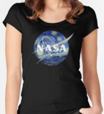 Starry NASA Women's Fitted Scoop T-Shirt