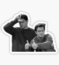 joey & chandler Sticker
