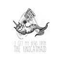 I get my news from the unicatmaid - fake news by jitterfly