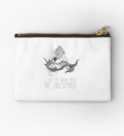 I get my news from the unicatmaid - fake news Studio Pouch