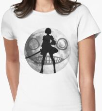 Nier Automata 2B Moon Womens Fitted T-Shirt