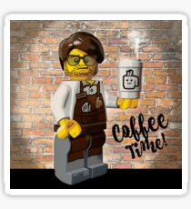 Lego's and Coffee Sticker