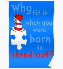 Autism Awareness dr seuss Poster