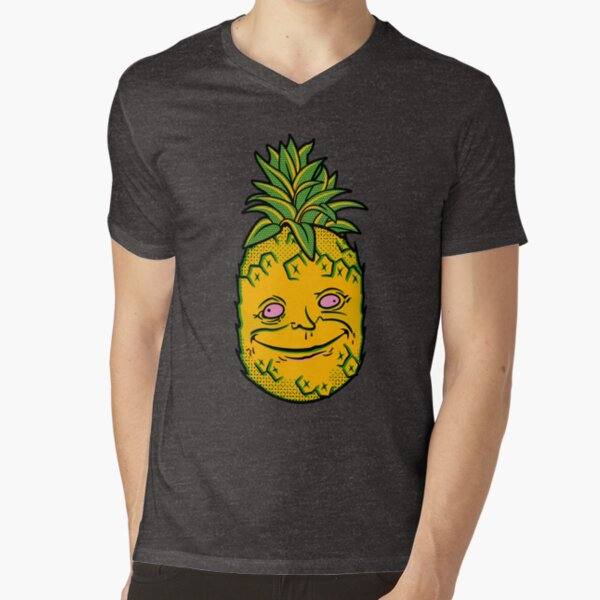 Happy Pineapple V-Neck T-Shirt