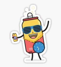 Beer O'Clock Buddy Sticker