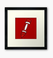 Red Crayon Framed Print
