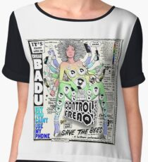 ERYKAH BADU SAVE THE BEES TEE  Chiffon Top