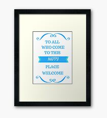 Disneyland Is Your Land Framed Print