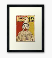 Klump the Clown! Framed Print