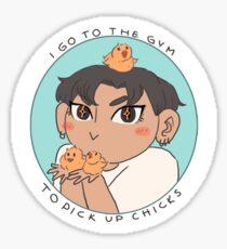 Pick Up Chicks - Blue Sticker