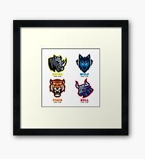 Animal Badges Sport Teams Framed Print