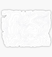Topographer Contour Mapping For Backpackers Sticker