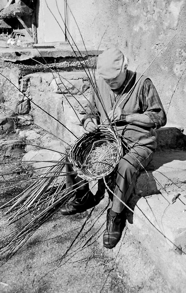Basket weaver, France by Andrew Wilson