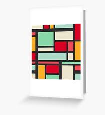 Mondrian Greeting Card