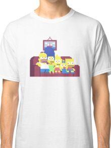 The Simpsons 8-Bit Pixels Design Classic T-Shirt