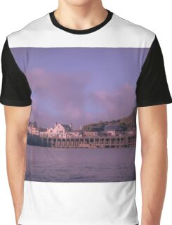 Ilfracombe's harbour on a moody August day. Graphic T-Shirt