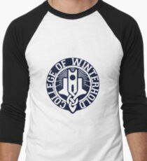 College of Winterhold Logo Design Men's Baseball ¾ T-Shirt