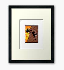 Rocky Climb Framed Print