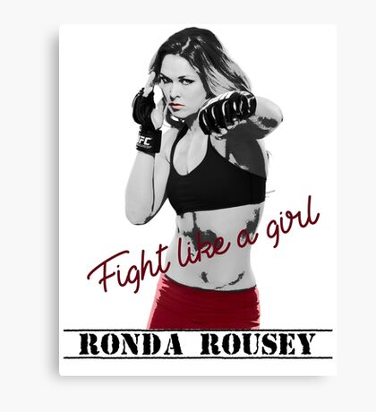 Ronda Rousey Fight Like A Girl Tee Canvas Print