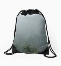 Clingmans Dome Fog Drawstring Bag