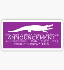 Alligator PSA Sticker