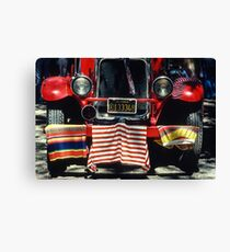 Fire Truck, 4th of July Celebration, Cloverdale, Sonoma Co., CA Canvas Print