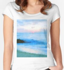 Tranquil Sea Women's Fitted Scoop T-Shirt