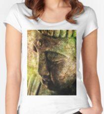 Buddha Head 3 Women's Fitted Scoop T-Shirt