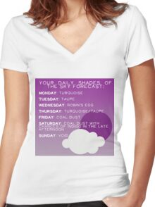 Your Daily Shades Of The Sky Forecast Women's Fitted V-Neck T-Shirt