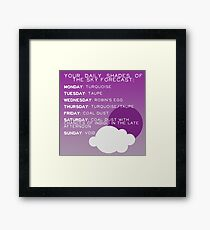 Your Daily Shades Of The Sky Forecast Framed Print