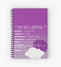 Your Daily Shades Of The Sky Forecast Spiral Notebook
