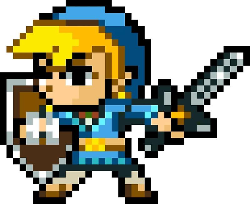 quotlink wind waker pixel art champions tunic botw