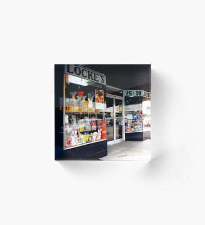 Locke's Dime Store Acrylic Block