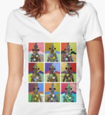 """""""Angels"""" Women's Fitted V-Neck T-Shirt"""
