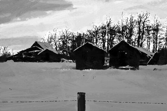 """Little Shacks In The Winter"