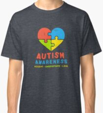 Autism Awareness 2017 Accept Understand Love Autistic Classic T-Shirt