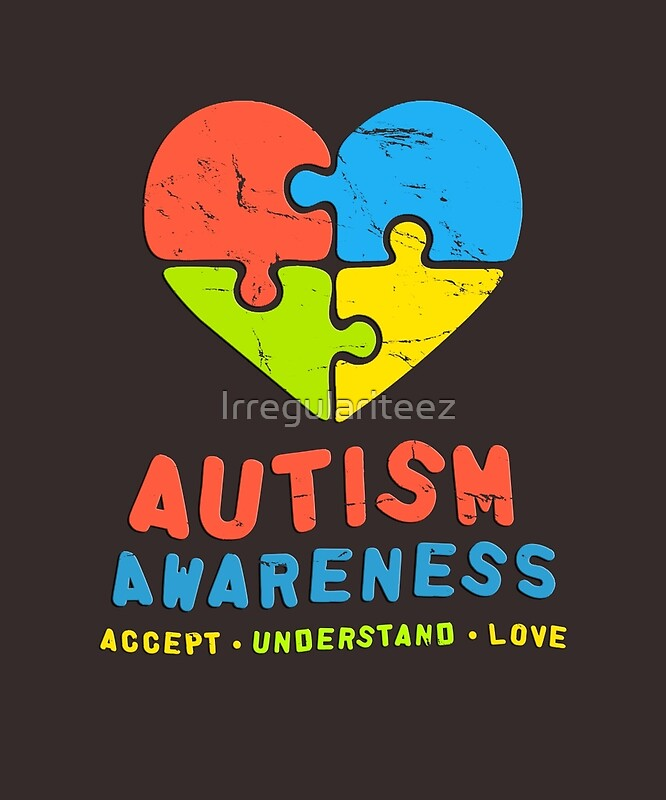 "Autism Awareness Art Posters Framed Artwork: ""Autism Awareness 2017 Accept Understand Love Autistic"