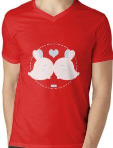 Bunny Kisses Mens V-Neck T-Shirt