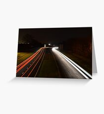 Long Exposure Car Lights Greeting Card