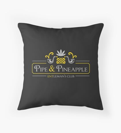 Pipe & Pineapple Throw Pillow