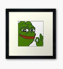 Happy Pepe Framed Print