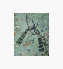 A Teal of Two Birds Chinoiserie Art Board