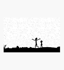 Space around us Rick and Morty Photographic Print