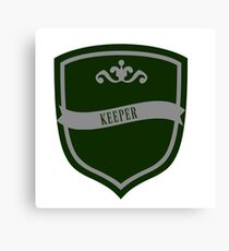 Green and Silver Badge 5 Canvas Print