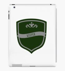 Green and Silver Badge 5 iPad Case/Skin