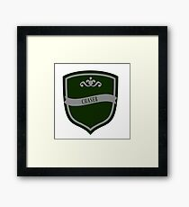 Green and Silver Badge 6 Framed Print
