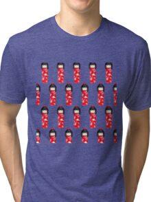 Kokeshi Dolls Tri-blend T-Shirt